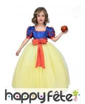 Longue robe de princesse Blanche pour fille