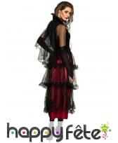 Longue robe de vampire avec voilures noires, image 1