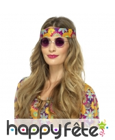 Lunettes rondes de style hippie, image 2