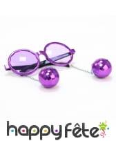 Lunettes rondes disco avec boules à facettes, image 1