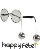 Lunettes rondes disco avec boules à facettes, image 4