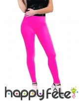 Legging rose fluo taille adulte