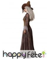 Longue robe marron de sorcière avec chapeau, image 1