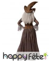 Longue robe marron de sorcière avec chapeau, image 2