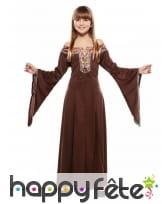 Longue robe médiéval marron pour enfant