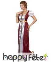Longue robe médiévale bordeaux cintrée, image 1