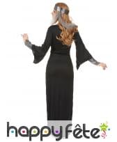 Longue robe médiévale noire et argentée, image 2