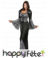 Longue robe noire avec motifs de femme vampire, image 1