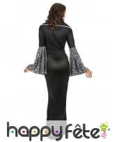 Longue robe noire avec motifs de femme vampire, image 2