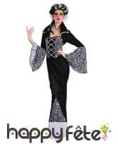 Longue robe noire avec motifs de femme vampire, image 3