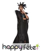Longue robe noire de femme corbeau, image 1