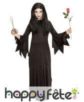 Longue robe noire unie pointue de sorcière, fille, image 1