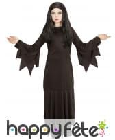 Longue robe noire unie pointue de sorcière, fille, image 2