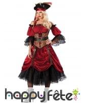 Longue robe premium de Pirate rouge