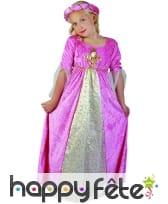 Large robe rose effet velours pour enfant, image 1