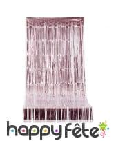 Long rideau rose brillant à franges, 92 x 244 cm
