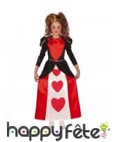 Longue robe reine de coeur pour enfant