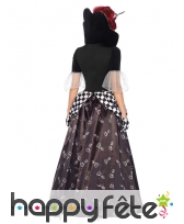Longue robe reine de coeurs en damier, image 1