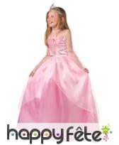 Longue robe rose de Princesse pour petite fille, image 1
