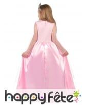 Longue robe rose de Princesse pour petite fille, image 2