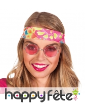 Lunettes rondes rose style hippie