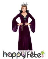 Longue robe violette de reine avec col noir, image 1