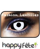 Lentilles sclera blanches et noires