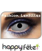 Lentilles sclera blanches