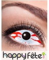 Lentilles sclera oeil en sang