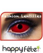 Lentilles sclera rouges