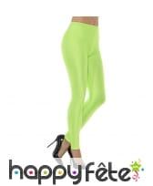 Legging spandex vert fluo disco