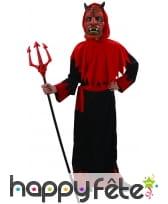 Longue tenue de diable rouge et noir pour enfant