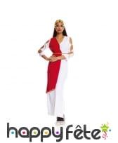 Longue tenue de romaine blanche et rouge