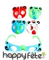 Lunettes tête de panda pour enfant, 8cm