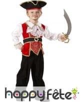 Luxueuse tenue de petit capitaine pirate