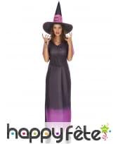 Longue tenue violette de sorcière adulte