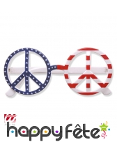 Lunettes usa peace and love