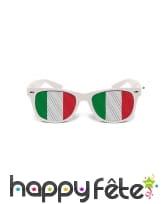 Lunettes verres aux couleurs du drapeau Italie