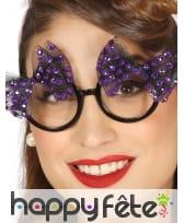 Lunettes Vintage avec noeuds violets et brillants