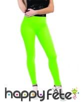 Legging vert fluo taille adulte