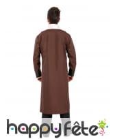 Longue veste steampunk marron avec jabot, homme, image 1