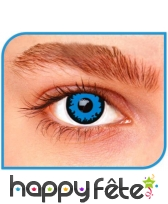 Lentilles yeux bleu de loup garou