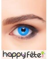 Lentilles yeux bleus unis