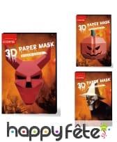 Masque 3D en papier pour adulte