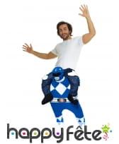Morphsuit à dos de Power Rangers bleu