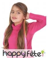 Mèche arc-en-ciel pour cheveux, 38cm
