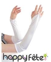Manchettes blanches de 42cm