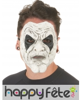 Masque blanc noir de arlequin démoniaque, image 1