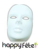 Masque blanc pour femme à decorer, image 1