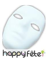 Masque blanc pour femme à decorer, image 2